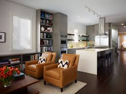 Kitchen Living Space Black And Red Living Room And A Kitchen Style For Small Space