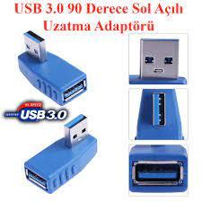 USB 3.0 Sol Açılı Konnektör Tip-A Erkek Dişi 90 Derece ...