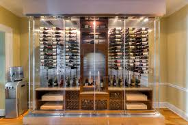 wine cellar cabinet. Contemporary Cellar Glass Enclosed Wine Cabinet With Metal Racks And Wine Cellar Cabinet I