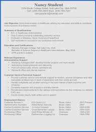 Resume Summary Examples For Collegedents Profile Objectives