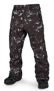Volcom Pants Size Chart Volcom L Gore Tex Ski Snowboard Pants M Black Print