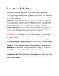 Process Analysis Essay