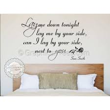 sam smith lay me down song lyrics romantic bedroom wall quote vinyl mural decal on wall art stickers quotes next with sam smith lay me down song lyrics romantic bedroom wall quote vinyl