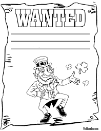template of a leprechaun leprechaun and rainbow coloring pages acpra