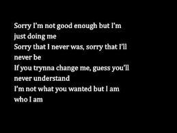 Not Good Enough Quotes 24 Best Sorry I'm Not Good Enough YouTube