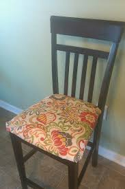 recover kitchen chairs with outdoor fabric holds up very well with kids