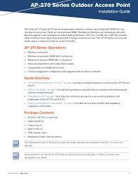 Aruba AP 270 Series Installation Guide