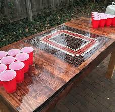 bottle cap furniture. made this block o ohio state bottle cap table last spring ryaneisel furniture