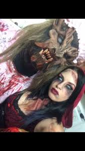 evil red riding hood makeup big bad wolf costumes couples costumes 2016