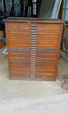 vine 25 drawer hamilton mfg co oak typeset letter press printers cabinet