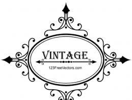 vintage frame design oval. Decorative Oval Vintage Frame Design