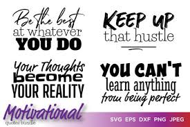 Download free svg vectors for commercial use. Motivational Quotes Bundle Graphic By Saudagar Creative Fabrica