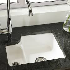 white ceramic undermount kitchen sink brilliant on within astracast lincoln 1 5 bowl gloss 15