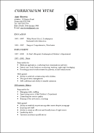 Updated Resume Curriculum Vitae Format Free Samples Examples For
