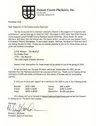 Thank You For Your Support Letter Putnam County Playhouse WATCH FOR YOUR FUND DRIVE LETTER 18