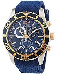 amazon co uk nautica watches nautica men s quartz watch chronograph quartz leather nai16502g