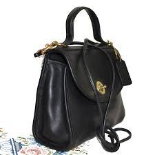 vintage coach leather purse black pre owned