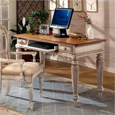 hilale wilshire computer writing desk in antique white