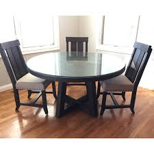 54 round solid wood acacia dining