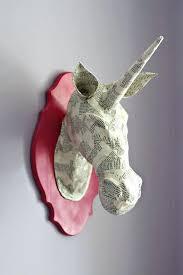 paper mounted unicorn head wall art mount canada