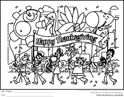 Thanksgiving Parade Coloring Pages Is The