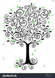 Filigree Tree Stock Illustration 49984939 - Shutterstock