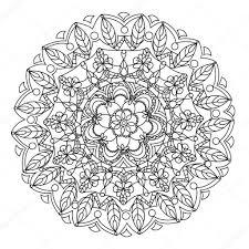 Mandala Met Hart Kleurboek Pagina Stockvector Ladika888