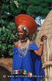 zulu married woman wearing a traditional hat kwazulu natal south africa