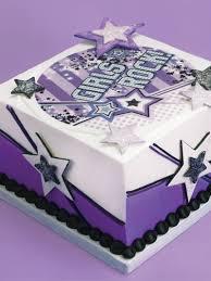 Decorating Idea Girls Rock Square Cake