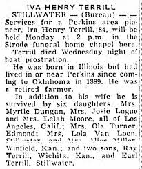 Ira Henry Terrill Obituary - Newspapers.com