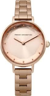 <b>Часы</b> наручные женские <b>French Connection</b>, цвет: розовое ...
