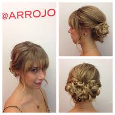 Hair Style Low Bun romantic low bun updo blond hair hairstyles for mid length 8225 by stevesalt.us