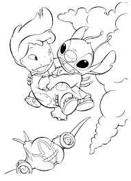 Lilo And Stitch Coloring Pages Printable Shelter