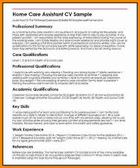 Cv Template For Care Assistant Care Cv Magdalene Project Org