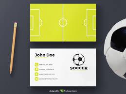 Soccer Business Card Soccer Business Card Template Freebcard