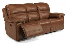 awesome leather power reclining sofa with power headrests reclining leather sofa
