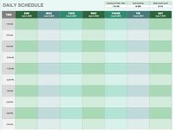 Daily Calendar Planning Word Template Monthly Calendar Template