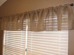 one hour burlap kitchen curtain tutorial