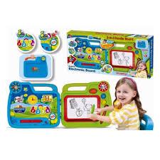 Доска <b>развивающая Junfa Toys</b> 2в1 в переносном чемоданчике ...