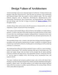 Design Movements Product Design Design Values Of Architecture By Accessarchitects Issuu