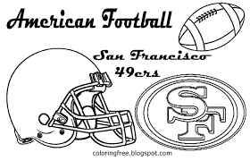 nfl coloring book pages new page showy 49ers images of 49er