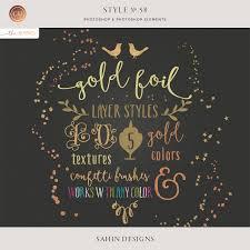 Confetti Brush Photoshop Style No 58 Gold Foil Confetti Brushes Cu