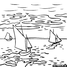 Small Picture Claude Monet Landscape painting coloring page