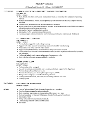 Processing Clerk Sample Resume Order Entry Clerk Resume Samples Velvet Jobs 20