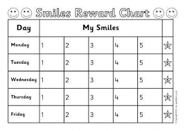 5 Day Reward Chart 5 Day Smiley Behaviour Reward Charts Sb11611 Sparklebox