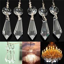 10x for curtains partitions entrance loose beads chandelier clear glass crystal lamp prism hanging drop pendant set 38mm 14mm purchasing souring agent