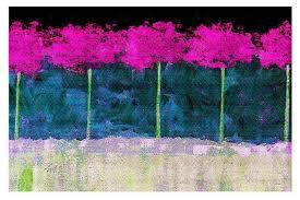 fuschia trees area rug contemporary area rugs
