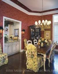 i like this open niche in the dinning room so it connects the kitchen french country dining