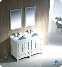 traditional double sink bathroom vanities. 48 Inch Vanity With Sink White Bathroom Oxford Traditional Double Vanities