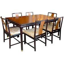 dining table with six chairs. john stuart walnut \u0026 mahogany dining table and six chairs 1 with s